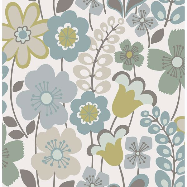 Picture of Piper Green Floral Wallpaper