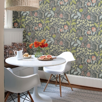 Picture of Shiloh Grey Botanical Wallpaper
