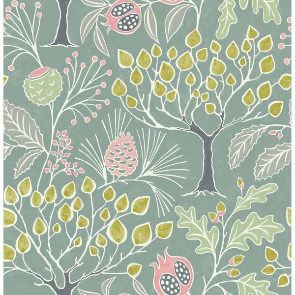 Picture of Shiloh Green Botanical Wallpaper