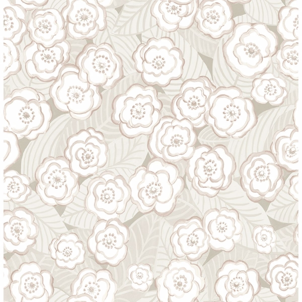 Picture of Emery Mauve Floral Wallpaper
