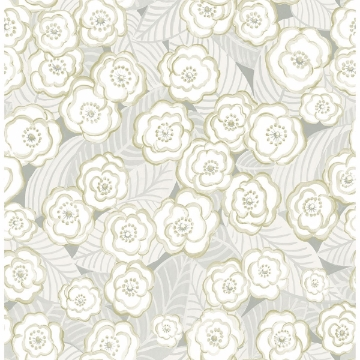 Picture of Emery Grey Floral Wallpaper