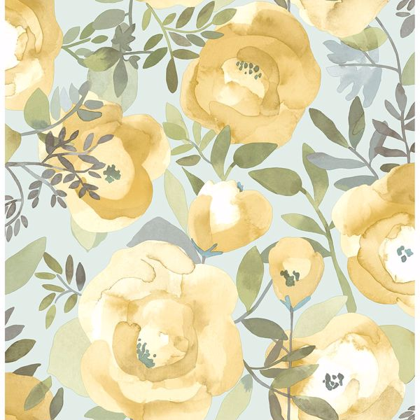 Picture of Orla Yellow Floral Wallpaper