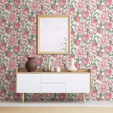 Picture of Orla Pink Floral Wallpaper