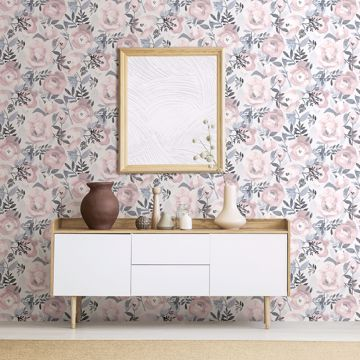 Picture of Orla Purple Floral Wallpaper