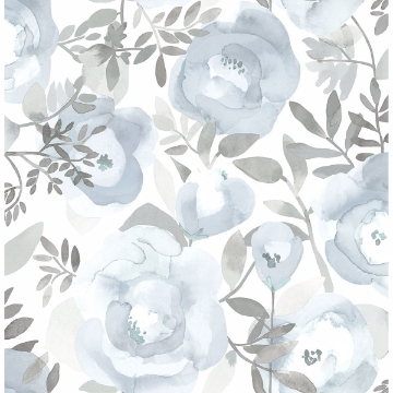 Picture of Orla Blue Floral Wallpaper