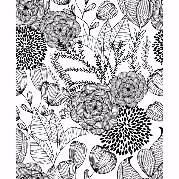Picture of Alannah Black Botanical Wallpaper