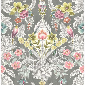 Picture of Vera Multicolor Floral Damask Wallpaper