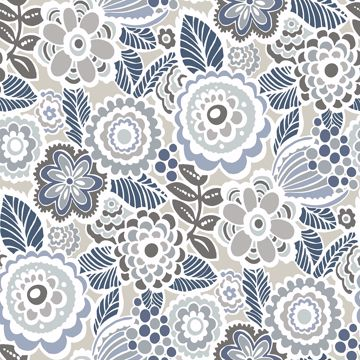 Picture of Lucy Grey Floral Wallpaper