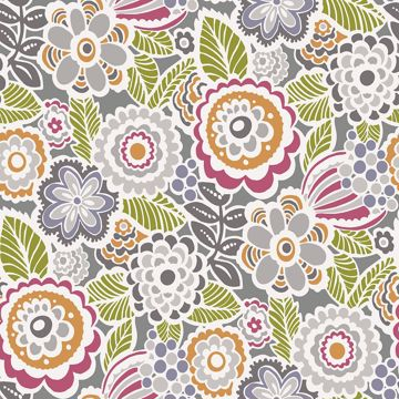 Picture of Lucy Multicolor Floral Wallpaper