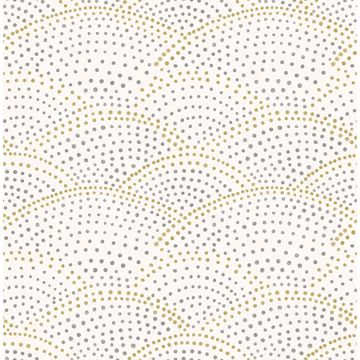 Picture of Bennett Grey Dotted Scallop Wallpaper