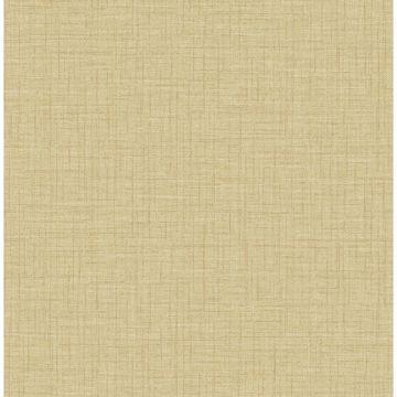 Picture of Jocelyn Yellow Faux Linen Wallpaper