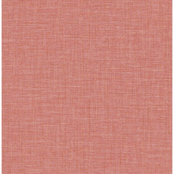 Picture of Jocelyn Pink Faux Linen Wallpaper