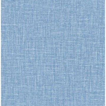Picture of Jocelyn Blue Faux Linen Wallpaper