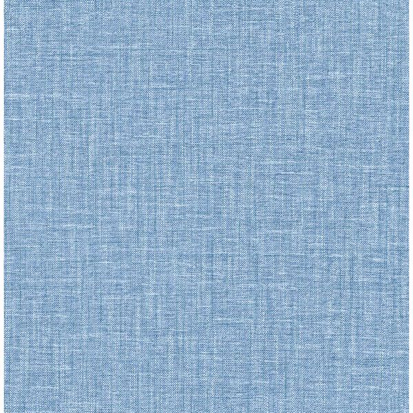 Picture of Jocelyn Blue Faux Linen Wallpaper