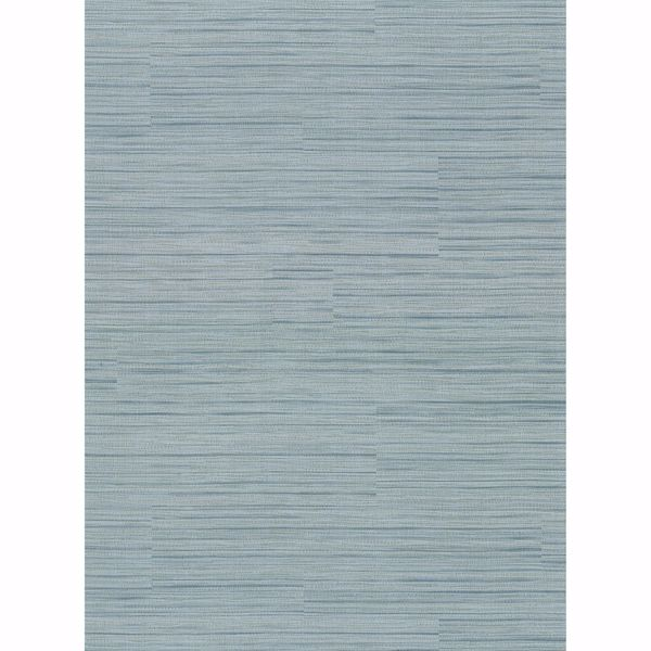 Picture of Coltrane Teal Faux Grasscloth Wallpaper