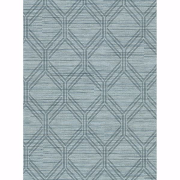 Picture of Vaughan Teal Geometric Wallpaper