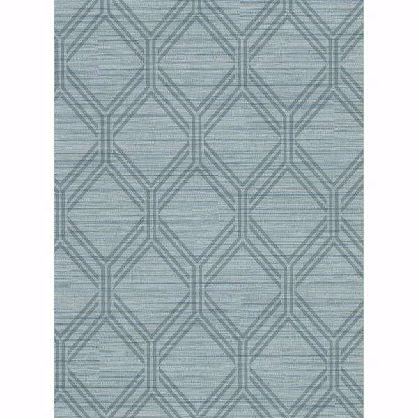 Picture of Vaughan Teal Geometric Wallpaper