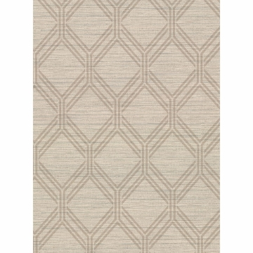 Picture of Vaughan Wheat Geometric Wallpaper