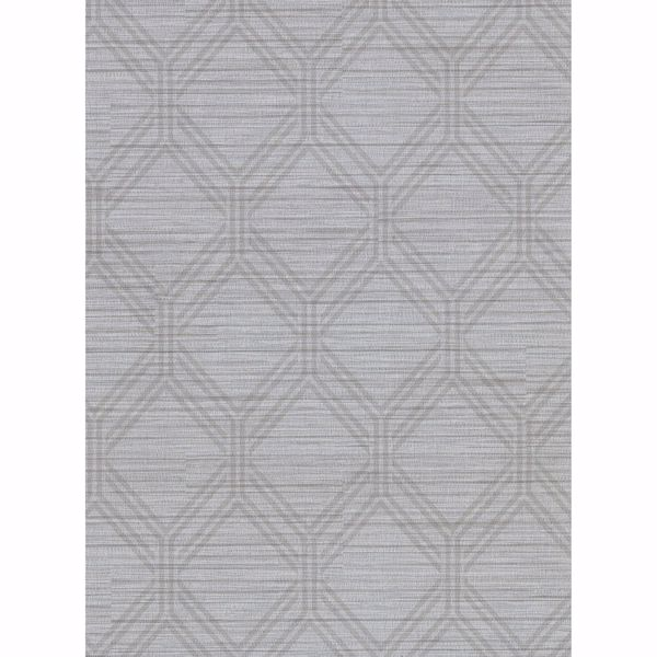 Picture of Vaughan Pewter Geometric Wallpaper