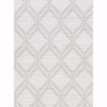 Picture of Vaughan Light Grey Geometric Wallpaper