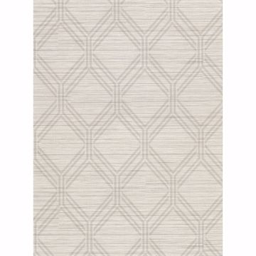 Picture of Vaughan Taupe Geometric Wallpaper