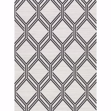 Picture of Vaughan Grey Geometric Wallpaper