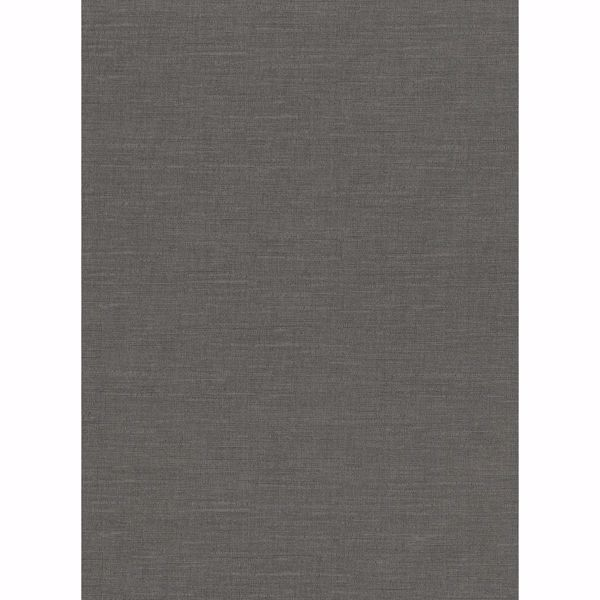 Picture of Parker Charcoal Faux Linen Wallpaper