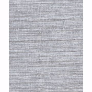 Picture of Coltrane Pewter Faux Grasscloth Wallpaper