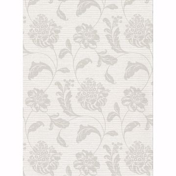 Picture of Holiday Light Grey Jacobean Wallpaper