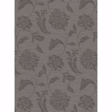Picture of Holiday Charcoal Jacobean Wallpaper