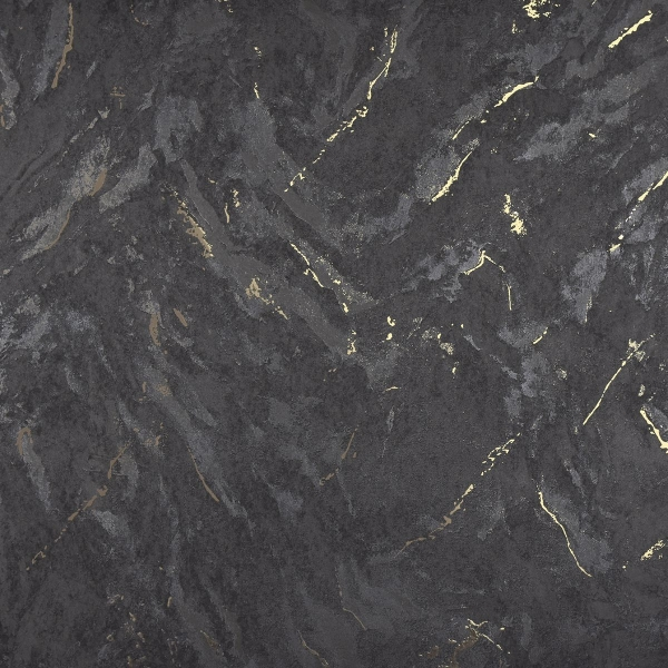 Picture of Titania Black Marble Texture Wallpaper