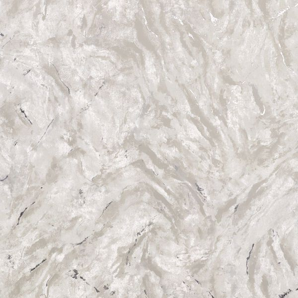 Picture of Titania Silver Marble Texture Wallpaper
