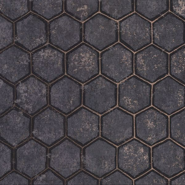 Picture of Starling Charcoal Honeycomb Wallpaper
