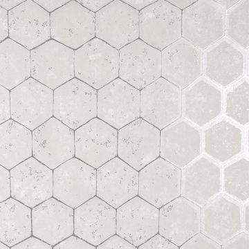 Picture of Starling Silver Honeycomb Wallpaper