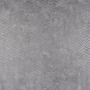 Picture of Luna Pewter Distressed Chevron Wallpaper