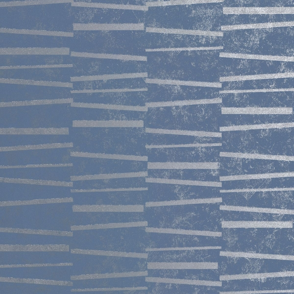 Picture of Luminescence Blue Abstract Stripe Wallpaper