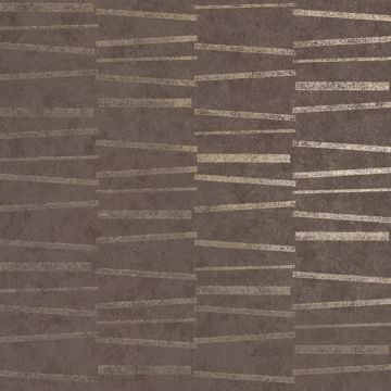 Picture of Luminescence Brown Abstract Stripe Wallpaper
