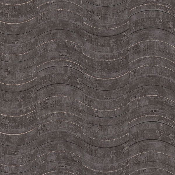 Picture of Hydra Dark Grey Geometric Wallpaper