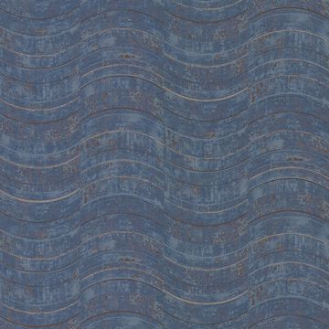 Picture of Hydra Blue Geometric Wallpaper