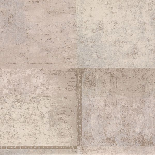 Picture of Vela Taupe Distressed Geometric Wallpaper