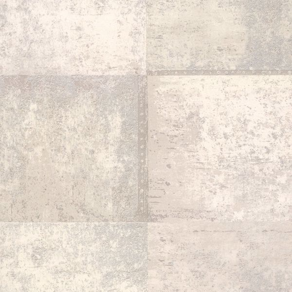 Picture of Vela Ivory Distressed Geometric Wallpaper