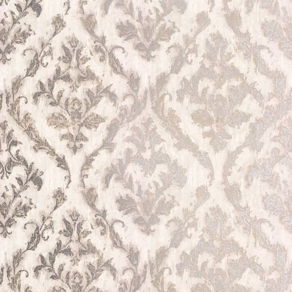 Picture of Lyra Light Grey Damask Wallpaper