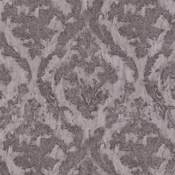 Picture of Lyra Pewter Damask Wallpaper