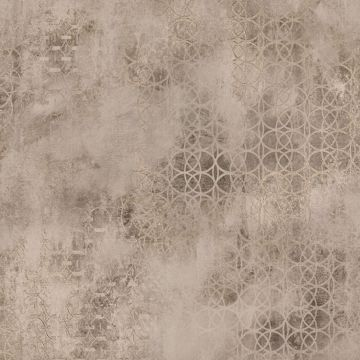 Picture of Fornax Brass Geometric Wallpaper