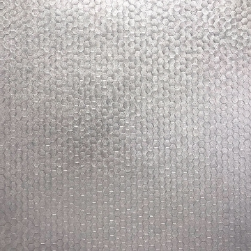 Picture of Carbon Silver Honeycomb Geometric Wallpaper