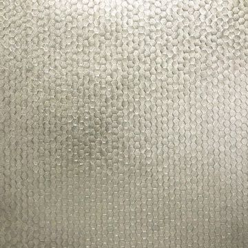 Picture of Carbon Platinum Honeycomb Geometric Wallpaper
