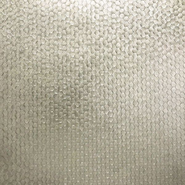 Picture of Carbon Platinum Honeycomb Geometric Wallpaper