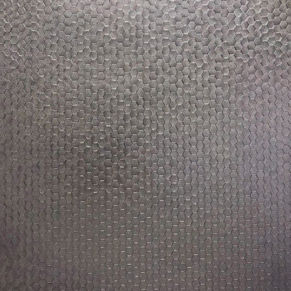 Picture of Carbon Pewter Honeycomb Geometric Wallpaper