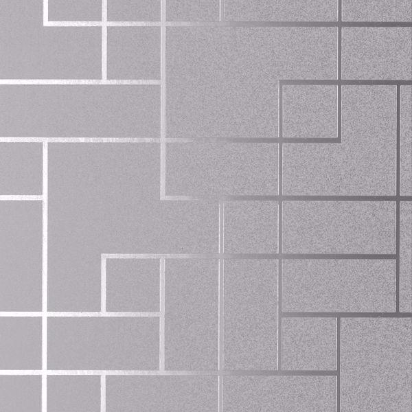 Picture of Mason Silver Geometric Wallpaper