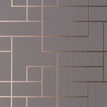 Picture of Mason Dark Grey Geometric Wallpaper